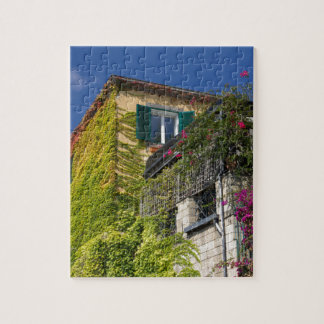 Colorful leaves on house jigsaw puzzle