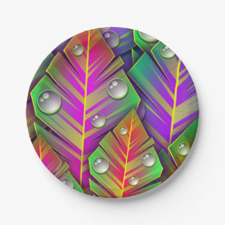 Colorful Leaves Paper Plate