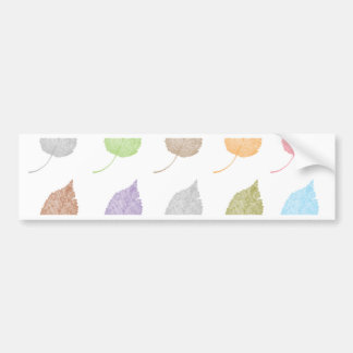 Colorful leaves pattern bumper sticker