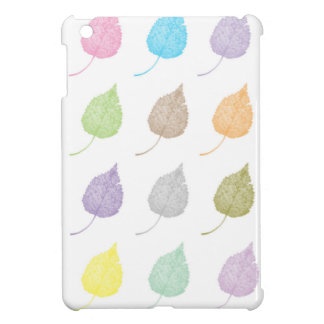 Colorful leaves pattern iPad mini cases