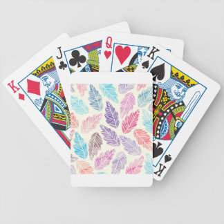 Colorful leaves poker deck