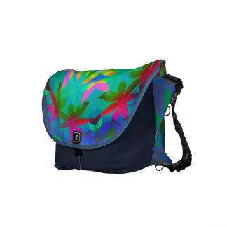 Colorful Leaves Rickshaw Messenger Bag