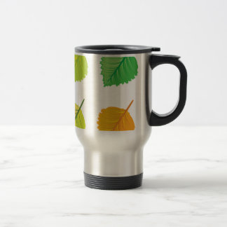 Colorful leaves stainless steel travel mug