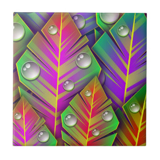 Colorful  leaves tile