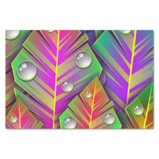 Colorful  leaves tissue paper