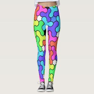 Colorful Leggings with Fidget Spinner Design