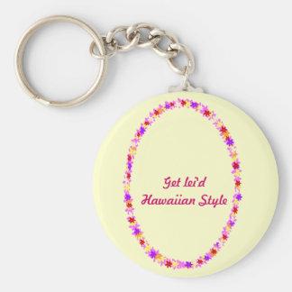 colorful lei, Get lei'd Hawaiian Style key chain