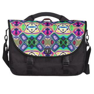 Colorful Lemon Lime Pattern Laptop Messenger Bag