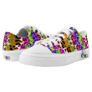 Colorful Leopard Print #26 Low Tops