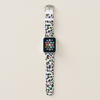 Colorful Leopard Print Apple Watch Band