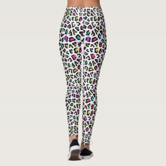 Colorful Leopard Print Leggings