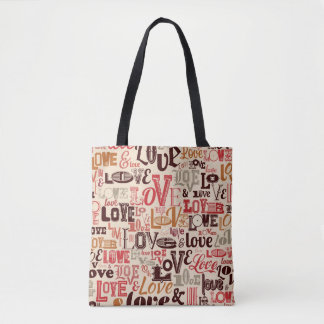 Colorful Letters- Text Design Tote Bag