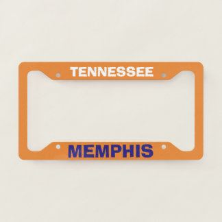 Colorful License Plate Frame Memphis Tennessee