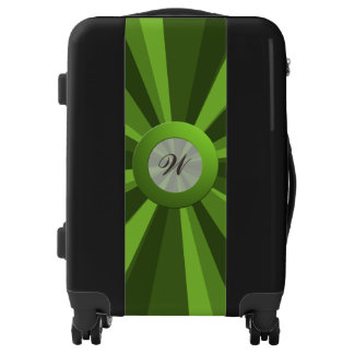 Colorful Light Beam any Color with Lime Monogram Luggage
