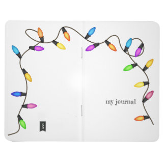Colorful light bulbs, string of fairy lights! journal
