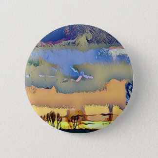 Colorful Light Fall Toned Abstract Horizon Sky 6 Cm Round Badge