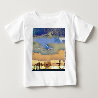 Colorful Light Fall Toned Abstract Horizon Sky Baby T-Shirt