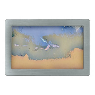 Colorful Light Fall Toned Abstract Horizon Sky Belt Buckles