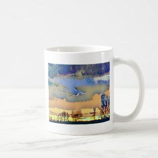Colorful Light Fall Toned Abstract Horizon Sky Coffee Mug