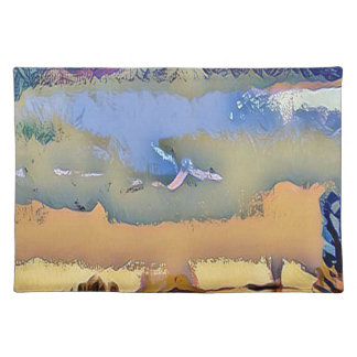 Colorful Light Fall Toned Abstract Horizon Sky Placemat