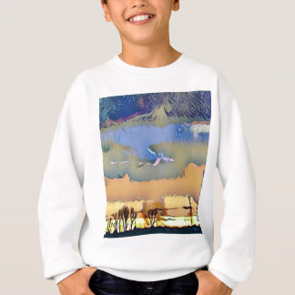 Colorful Light Fall Toned Abstract Horizon Sky Sweatshirt