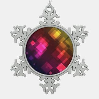 Colorful lights illustration pewter snowflake decoration