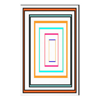 Colorful Line Art Sq Rectangle Graphics KIDS fun99 Stationery
