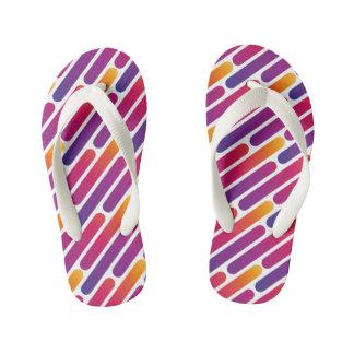 Colorful Line Pattern Flip-Flop Kid's Thongs