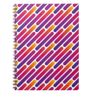 Colorful Line Pattern Notebook