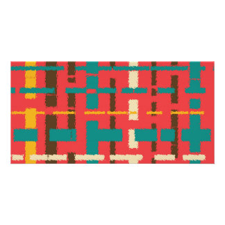 Colorful line segments card