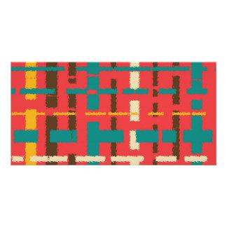 Colorful line segments customized photo card