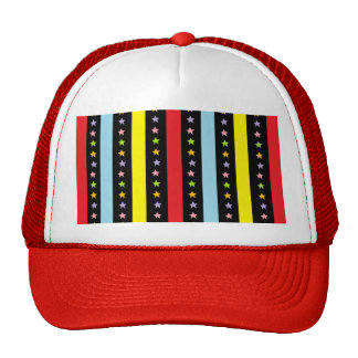 Colorful Lines and Stars Cap