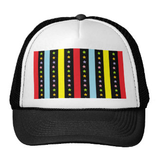 Colorful Lines and Stars Hat