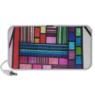 Colorful Lines Mp3 Speakers