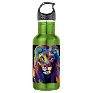 Colorful lion 532 ml water bottle