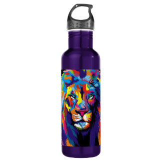 Colorful lion 710 ml water bottle