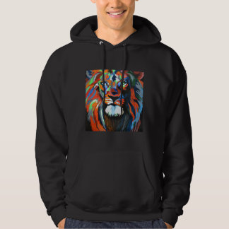 Colorful Lion Art Hoodies Sweatshirt