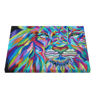 Colorful Lion Canvas Print