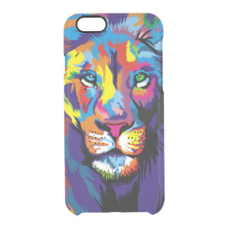 Colorful lion clear iPhone 6/6S case