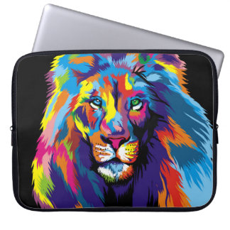 Colorful lion computer sleeve