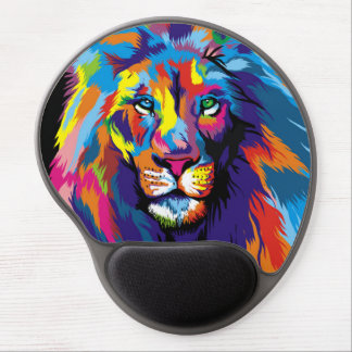 Colorful lion gel mouse pad