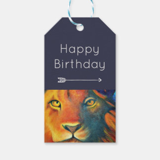 Colorful Lion Head Portrait Oil Painting Birthday