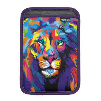 Colorful lion iPad mini sleeve
