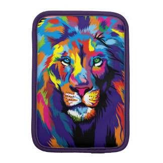 Colorful lion iPad mini sleeves