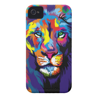 Colorful lion iPhone 4 case