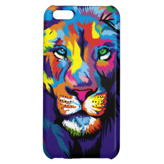 Colorful lion iPhone 5C cover