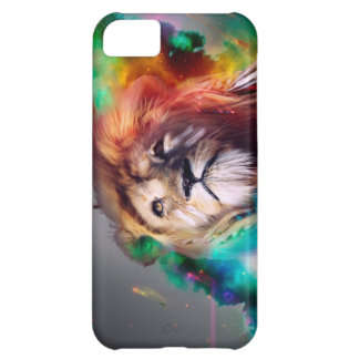 Colorful lion looking up Feathers Space Universe iPhone 5C Case