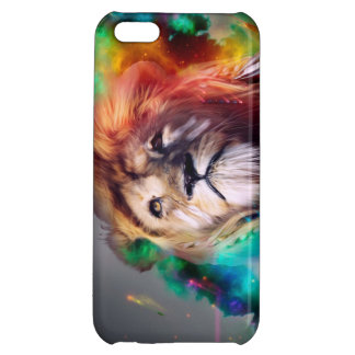 Colorful lion looking up Feathers Space Universe iPhone 5C Cover