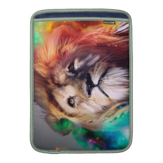 Colorful lion looking up Feathers Space Universe MacBook Air Sleeve