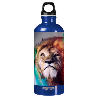 Colorful lion looking up Feathers Space Universe SIGG Traveller 0.6L Water Bottle